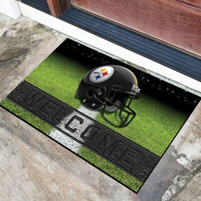 NFL Rubber Doormat NFL Team: Pittsburgh Steelers