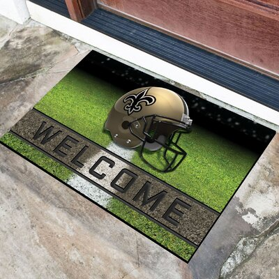 NFL Rubber Doormat NFL Team: New Orleans Saints