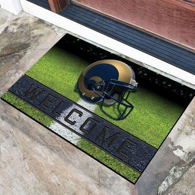 NFL Rubber Doormat NFL Team: Los Angeles Rams