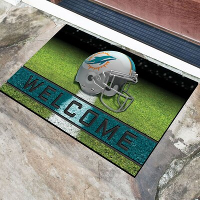 NFL Rubber Doormat NFL Team: Miami Dolphins