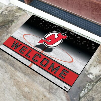 NHL Rubber Doormat NHL Team: New Jersey Devils