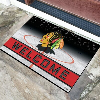 NHL Rubber Doormat NHL Team: Chicago Blackhawks