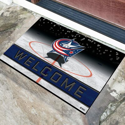NHL Rubber Doormat NHL Team: Columbus Blue Jackets