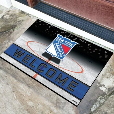NHL Rubber Doormat NHL Team: New York Rangers