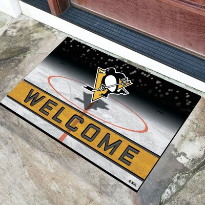 NHL Rubber Doormat NHL Team: Pittsburgh Penguins