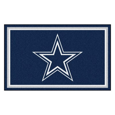 NFL - Dallas Cowboys 4x6 Rug Mat Size: 4 x 6