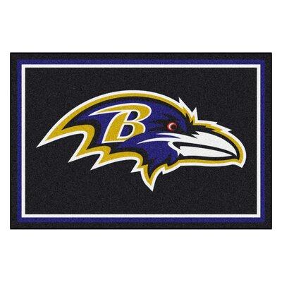 NFL - Baltimore Ravens 4x6 Rug Mat Size: 5 x 8