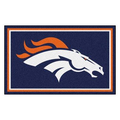 NFL - Denver Broncos 4x6 Rug Rug Size: 4 x 6