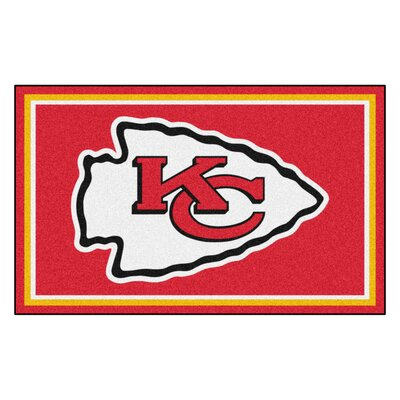 NFL - Kansas City Chiefs 4x6 Rug Mat Size: 4 x 6