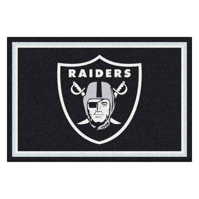 NFL - Oakland Raiders 4x6 Rug Rug Size: 5 x 8