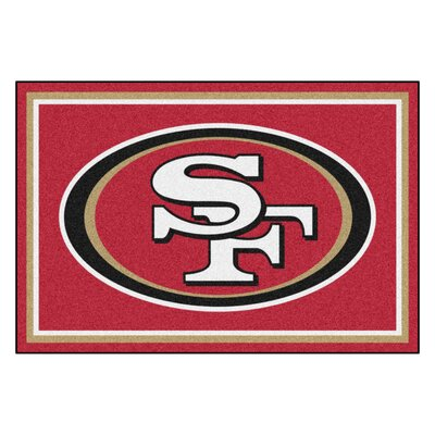 NFL - San Francisco 49ers 4x6 Rug Rug Size: 5 x 8