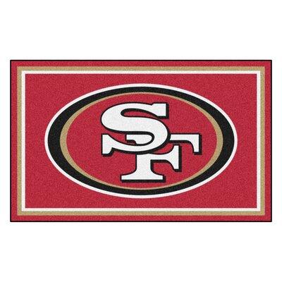 NFL - San Francisco 49ers 4x6 Rug Mat Size: 4' x 6'