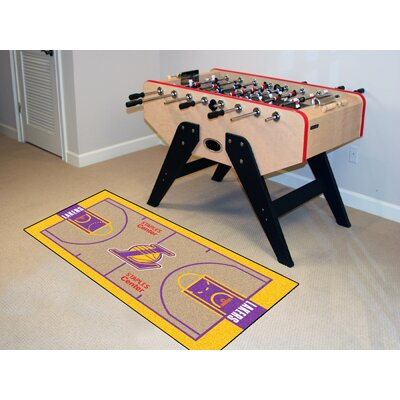 NBA - Los Angeles Lakers NBA Court Runner Doormat Rug Size: 25.5 x 46