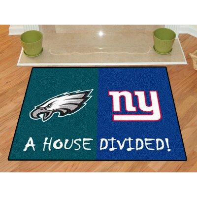 NFL House Divided - Eagles / Giants House Divided Mat