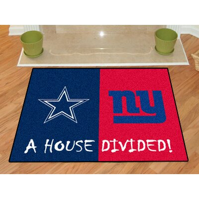 NFL House Divided - Cowboys / Giants House Divided Mat