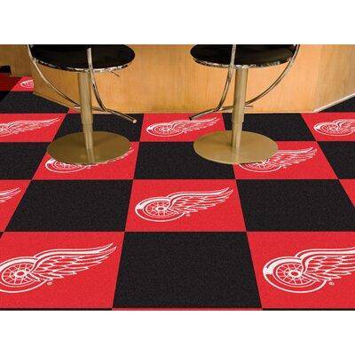 NHL - Chicago Blackhawks Team Carpet Tiles NHL Team: Detroit Red Wings 10706