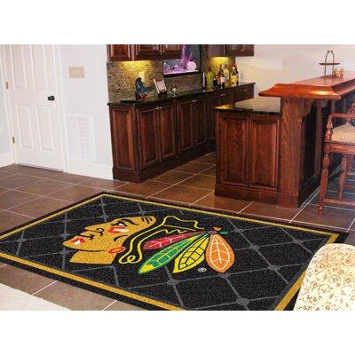 NHL - Chicago Blackhawks 5x8 Rug Rug Size: 5 x 78