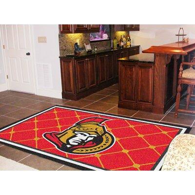 NHL - Ottawa Senators Doormat Rug Size: 5 x 78
