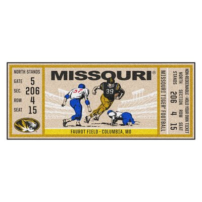 Ticket Runner Utility Mat NCAA Team: University of Missouri, Columbia