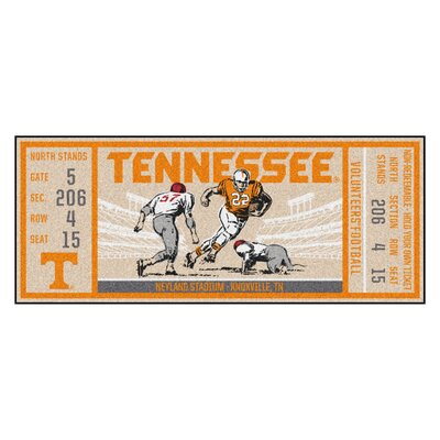 Ticket Runner Utility Mat NCAA Team: University of Tennessee, Knoxville