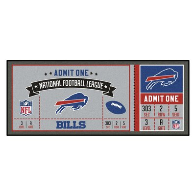 Ticket Runner Utility Mat NFL Team: Buffalo Bills