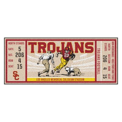 Ticket Runner Utility Mat NCAA Team: University of Southern California