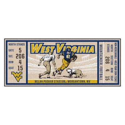 Ticket Runner Utility Mat NCAA Team: West Virginia University