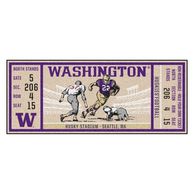 Ticket Runner Utility Mat NCAA Team: University of Washington