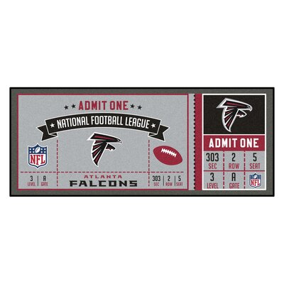 Ticket Runner Utility Mat NFL Team: Atlanta Falcons