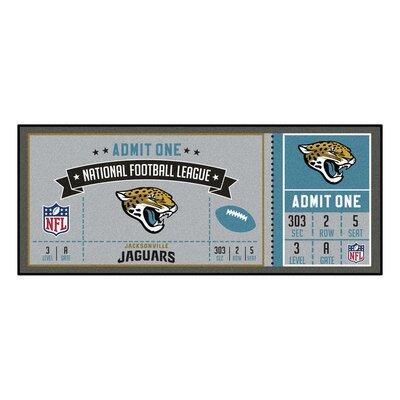 Ticket Runner Utility Mat NFL Team: Jacksonville Jaguars