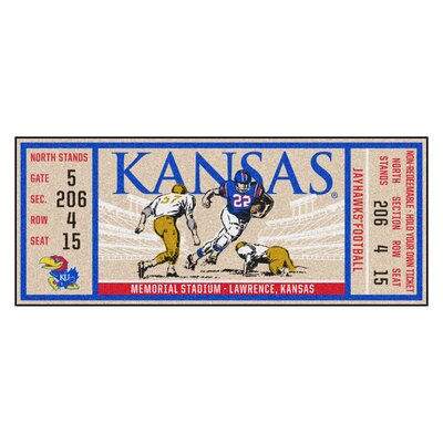 Ticket Runner Utility Mat NCAA Team: University of Kansas