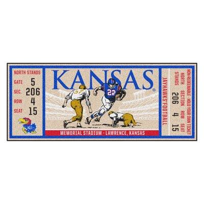 Ticket Runner Utility Mat NCAA Team: University of Kansas
