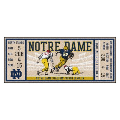 Ticket Runner Utility Mat NCAA Team: University of Notre Dame