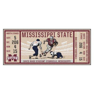 Ticket Runner Utility Mat NCAA Team: Mississippi State University