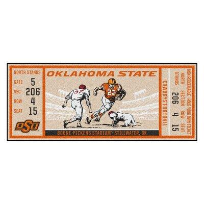 Ticket Runner Utility Mat NCAA Team: Oklahoma State University