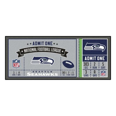 Ticket Runner Utility Mat NFL Team: Seattle Seahawks