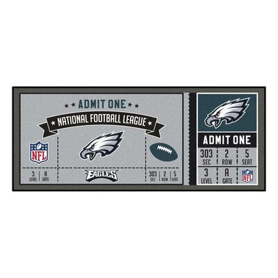 Ticket Runner Utility Mat NFL Team: Philadelphia Eagles