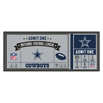 Ticket Runner Utility Mat NFL Team: Dallas Cowboys