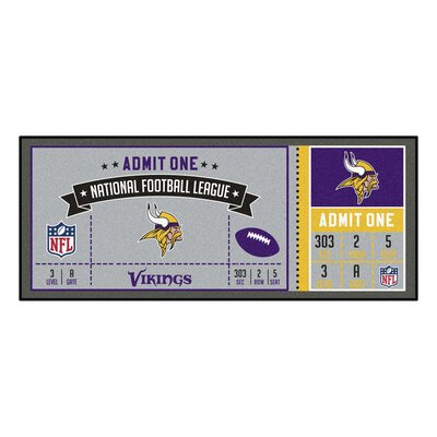 Ticket Runner Utility Mat NFL Team: Minnesota Vikings