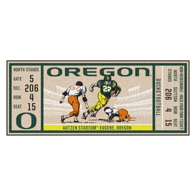 Ticket Runner Utility Mat NCAA Team: University of Oregon