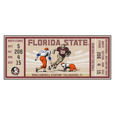 Ticket Runner Utility Mat NCAA Team: Florida State University