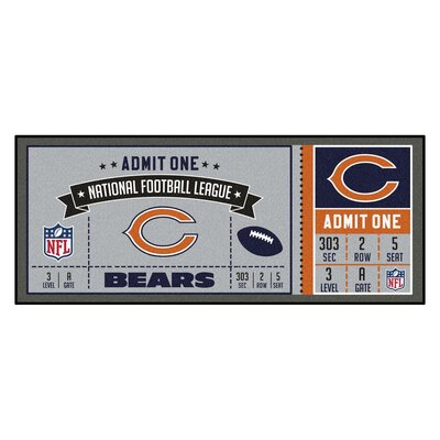 Ticket Runner Utility Mat NFL Team: Chicago Bears