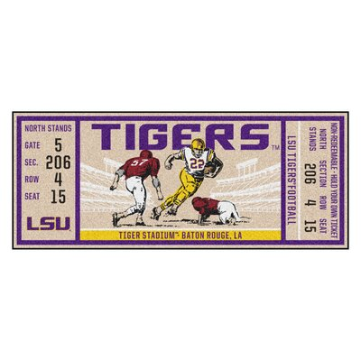 Ticket Runner Utility Mat NCAA Team: Louisiana State University