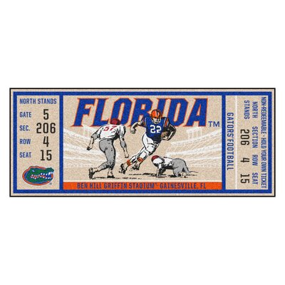 Ticket Runner Utility Mat NCAA Team: University of Florida