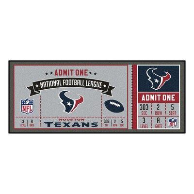 Ticket Runner Utility Mat NFL Team: Houston Texans