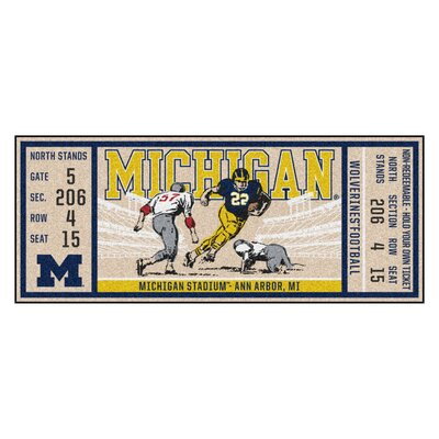 Ticket Runner Utility Mat NCAA Team: University of Michigan