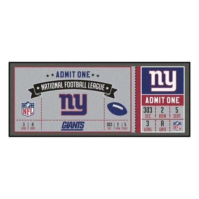 Ticket Runner Utility Mat NFL Team: New York Giants