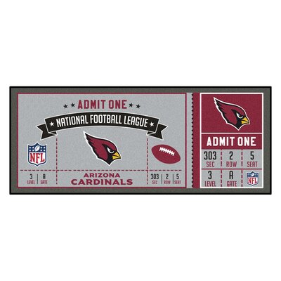 Ticket Runner Utility Mat NFL Team: Arizona Cardinals
