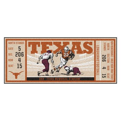 Ticket Runner Utility Mat NCAA Team: University of Texas at Austin