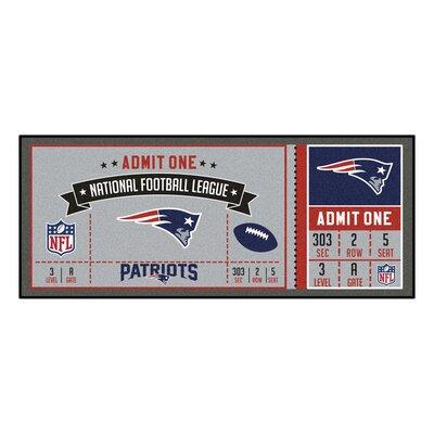Ticket Runner Utility Mat NFL Team: New England Patriots